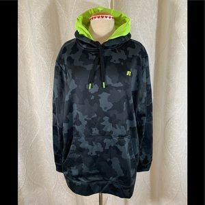 Men's Russell Camo/Neon Green Pullover Jacket